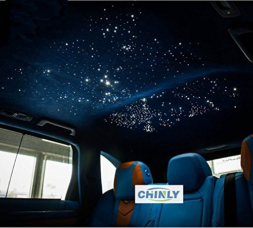 Car use 12W RGBW Remote Music Mode LED Fiber Optic Star Ceiling Kit, Mixed 450 Strands 9.8ft Long , 0.03in+0.04in+0.06in by CHINLY