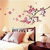 Loterong Romantico Camera Salotto Decorativi Adesivi Adesivi Adesivi Creative Camera Calda (Muro Adesivi Sullo Sfondo,Fiore Di Pesco,Grandi