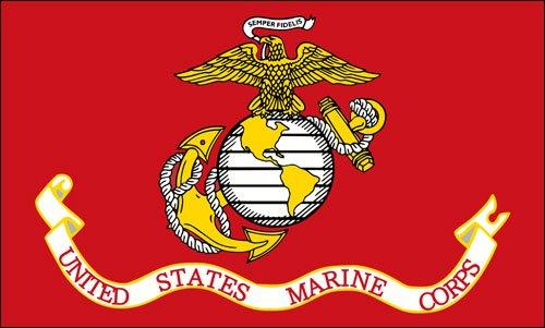 Marine Flag Decal Corps (American Vinyl United States Marine Corps Flag Sticker (USMC Semper fi))