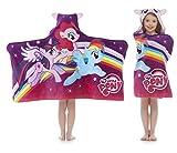 Best Rainbow Towel For Bath Beaches - My Little Pony Hooded Beach Bath Towel Wrap Review