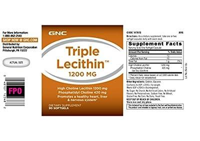 GNC Triple Lecithin 1200 MG, 90 Softgels
