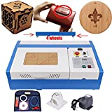 Iglobalbuy 12''x 8'' 40W CO2 Laser Engraving Cutting Machine Engraver Cutter DIY USB Port with Movable Wheels and Exhaust Fan