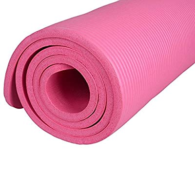 "Angelwing Yoga Mat Pad Non Slip Durable Mats Extra Thick Pink 72"" x 24""x 0.6"""