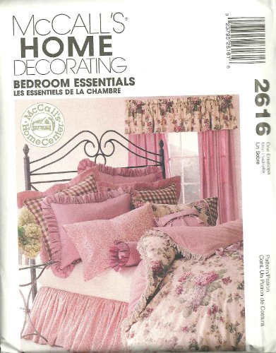 Bedroom Essentials McCall's Home Decorating Sewing Pattern 2616