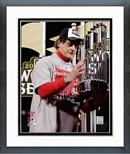 Tony LaRussa St. Louis Cardinals 2011 MLB World Series Trophy Photo (Size: 12.5