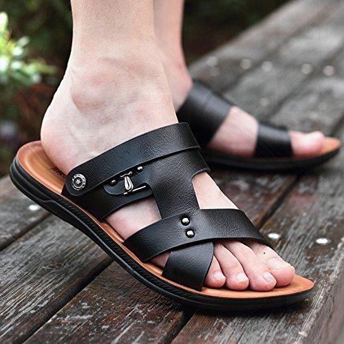Sandali ciabatte da Casual Sandali uomo Sandali Black spiaggia da da e estivi Uomo Parole AIHUWAI Pure Pantofole Sandali Uomo uomo Sandali IBwpqag
