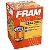 FRAM Extra Guard PH4967, 10K Mile Change Interval Spin-On Oil Filter, black