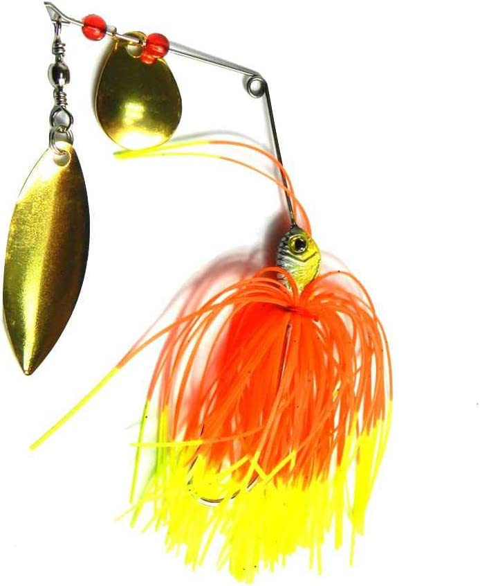 Yujum 1pcs 4 pezzi di metallo esche Esca per la pesca Arnesi Buzzbaits Rotary Pesce Beard spinnerbaits Rotating Paillettes Esche colore casuale