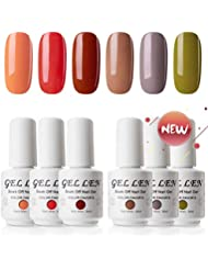 Gellen UV Gel Nail Polish Kit, Fall Colors Series 6...