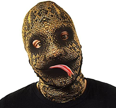 Scary Halloween Face Mask Fry Up Face Design Fancy Dress Horror Lycra
