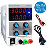 LETOUR Variable DC Power Supply 30V 10A Regulated Power mA Display 3010D Adjustable