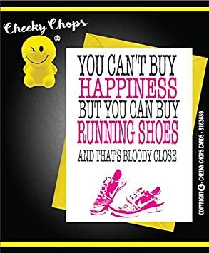 Birthday Card for Runner /'Running is the Answer/' from Running Cards UK