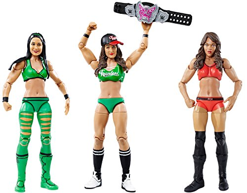 **PACKAGE DEAL** BELLA TWINS (BATTLE PACKS 38) & ALICIA FOX (SERIES 47) WWE DIVAS MATTEL TOY WRESTLING ACTION FIGURES