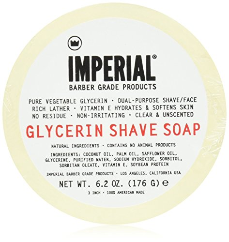 Imperial Oil (Imperial Barber 100% Natural Glycerin Face & Shave Shaving Soap Puck 6.2oz - Made in The USA)