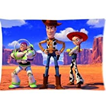 Toy Story Buzz Lightyear Sheriff Woody Jessie Pillowcase 20x36 two sides Zippered Rectangle PillowCases Throw Pillow Covers