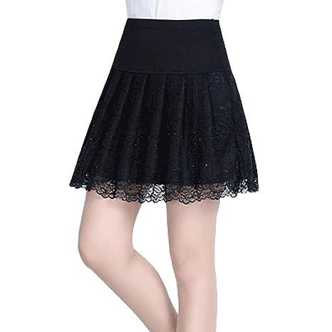 FSDFASS Faldas Falda de Estilo de Verano para niña, Mujer Coreana ...