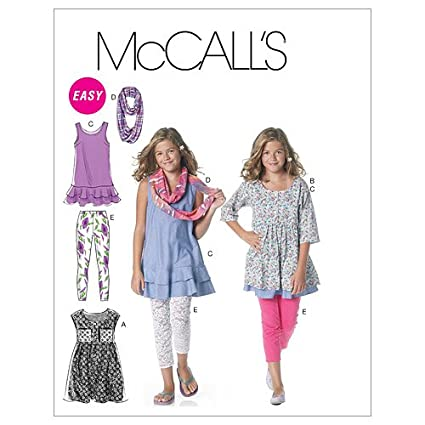 b3c1eea5b3f Image Unavailable. Image not available for. Color  McCall s Patterns M6275  Girls  Girls  Plus Dresses