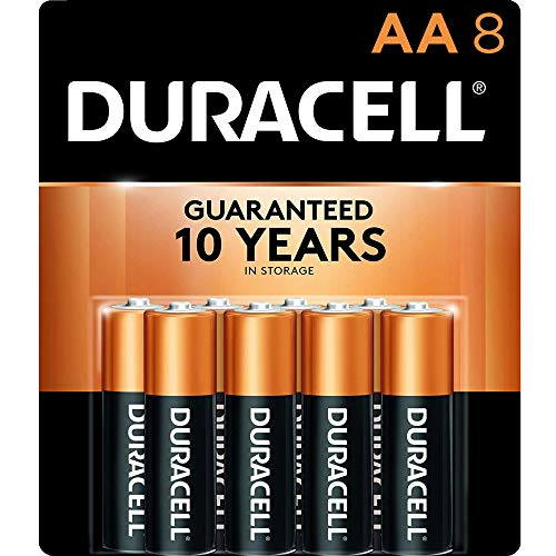 Duracell – CopperTop AA Alkaline Batteries – Long Lasting, All-Purpose Double A battery for Household and Business – 8…