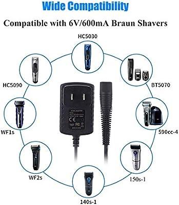 SoulBay 6V Cable cargador para afeitadora eléctrica Braun Razor ...