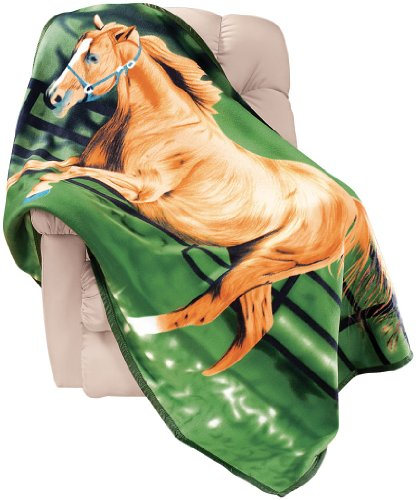 Horse Fleece Throw Blanket by Miles Kimball