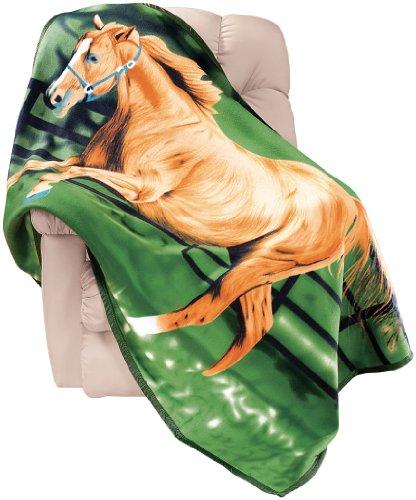 Horse Fleece Throw Blanket by Miles Kimball