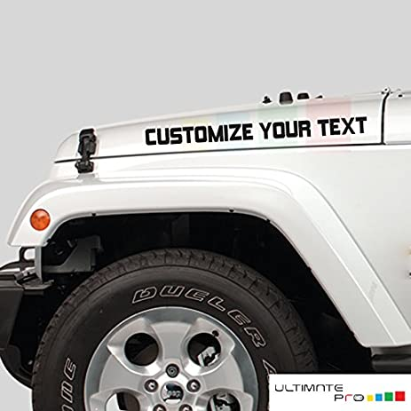 2x custom stickers decals compatible with jeep wrangler jk tj