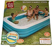 """Alston Wat Play Day 10 Foot Inflatable Family Swimming Pool Outdoor 120"""" X 72&q"""