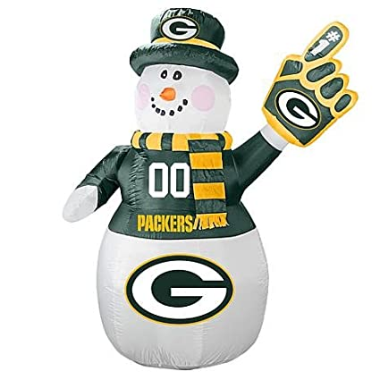 Amazon.com: NFL Green Bay Packers muñeco de nieve inflable ...
