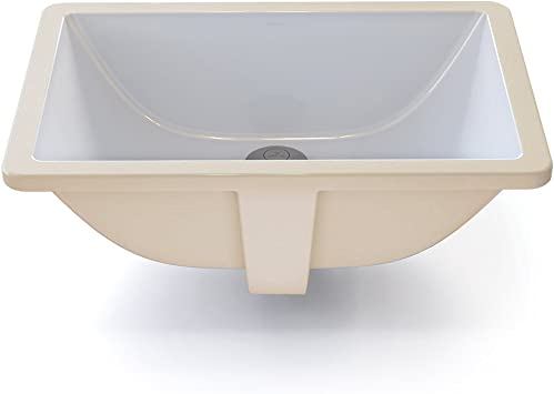 Decolav 1402 Cwh Callensia Classically Redefined Rectangular Vitreous China Undermount Lavatory Sink With Overflow White Vessel Sinks Amazon Com