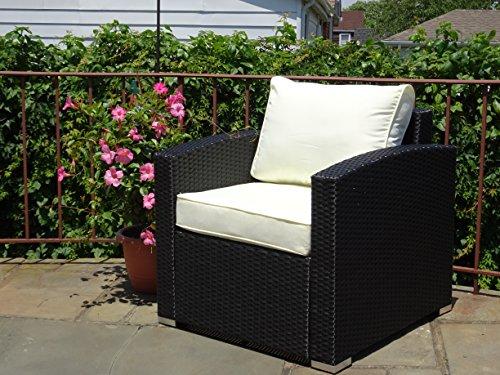 black resin wicker chair - 5