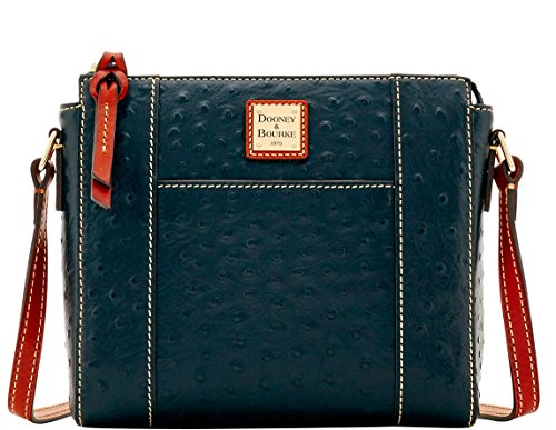 Dooney & Bourke Ostrich Lexington Crossbody Black (Dooney Bourke Lexington)
