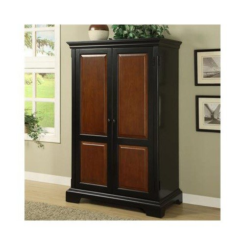 Solid Wood Computer Armoire ~ Bridgeton solid wood computer armoire in antique black