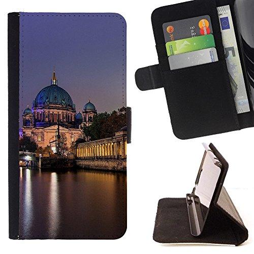 God Garden - FOR Apple Iphone 6 - Berlin - Glitter Teal Purple Sparkling Watercolor Personalized Design Custom Style PU Leather Case Wallet Fli