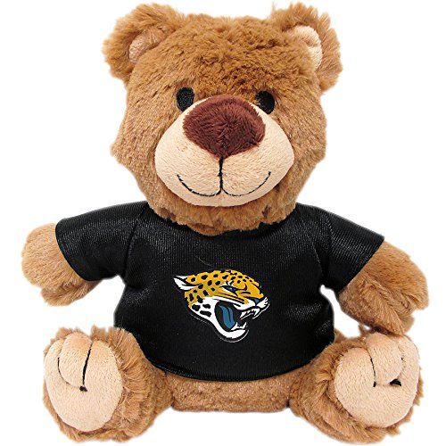 (Pets First NFL Teddy Bear Plush Toy with Inner Squeaker for Dogs, Cats, Kids or Décor. Wearing an Jacksonville Jaguars Jersey!)