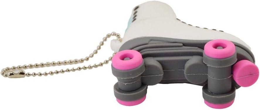 FEBNISCTE Rose USB Flash Drive 32GB USB 2.0 Roller Skates Jump Drive