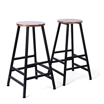 Awesome Amazon Com Ejoyous Bar Stool 28 Rustic Kitchen Counter Gamerscity Chair Design For Home Gamerscityorg