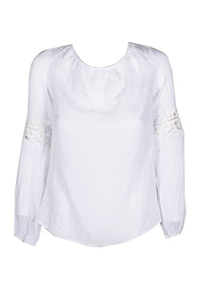 0c229f5d9177e4 Image Unavailable. Image not available for. Color: GUESS Orlando Scoop-Back Top  True White XSmall