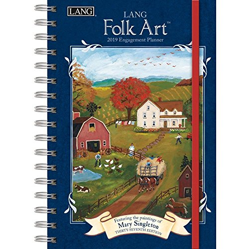 The LANG Companies Folk Art 2019 Engagement Planner - Spiral (19991011086)