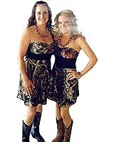 QSL Short Women's Camo Bridesmaid Dresses Camouflage Appliques Bridal Gowns