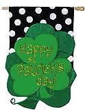 St. Patrick Clover Vertical Flag