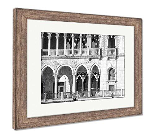 The Venetian Resort Hotel Casino - Ashley Framed Prints The Venetian Resort Hotel Casino, Wall Art Home Decoration, Black/White, 30x35 (Frame Size), Rustic Barn Wood Frame, AG6425773
