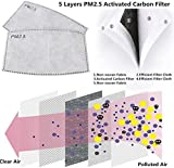 50 PCS PM2.5MASK Activated Carbon Filter, 5