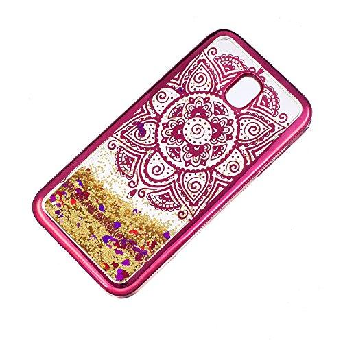 LuckyW Enchapado Caja de Bling for Samsung Galaxy J7 (2017) (European Version) TPU Silicone Transparente Cubierta de la Contraportada del Color del SuaveSuave Ligero Ultra delgado Delgado [Resistente  Sol indio