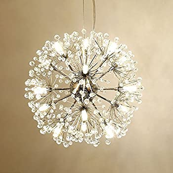 18 Pcs Lights Chandeliers Firework led Vintage Wrought Iron Chandelier Island Pendant Lighting Ceiling Light, Dia 15.7 inch by LightInTheBox (White)