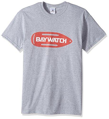 Saver Tee - Baywatch Men's Lifesaver T-Shirt, Sport Grey, Large
