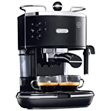 De'Longhi Icona Pump Espresso Machine (ECO310BK) - Silver/Black