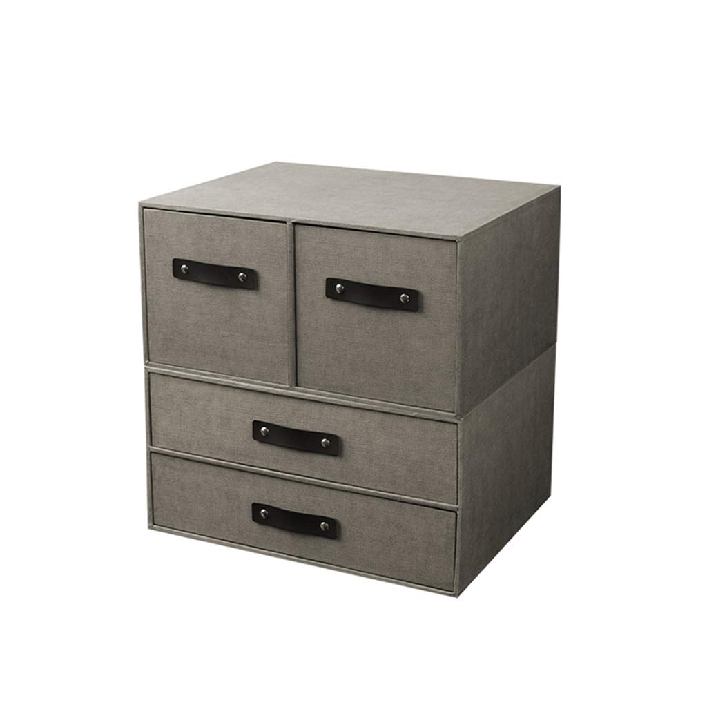 LCSHAN Desktop File Cabinet File Classification Storage Box Office Dormitory Stationery Finishing Box (Color : D Style)