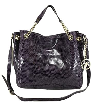 61d140c37168 Amazon.com: Michael Kors Jet Set Chain Medium Gather Shoulder Tote Purple  Handbag: Shoes
