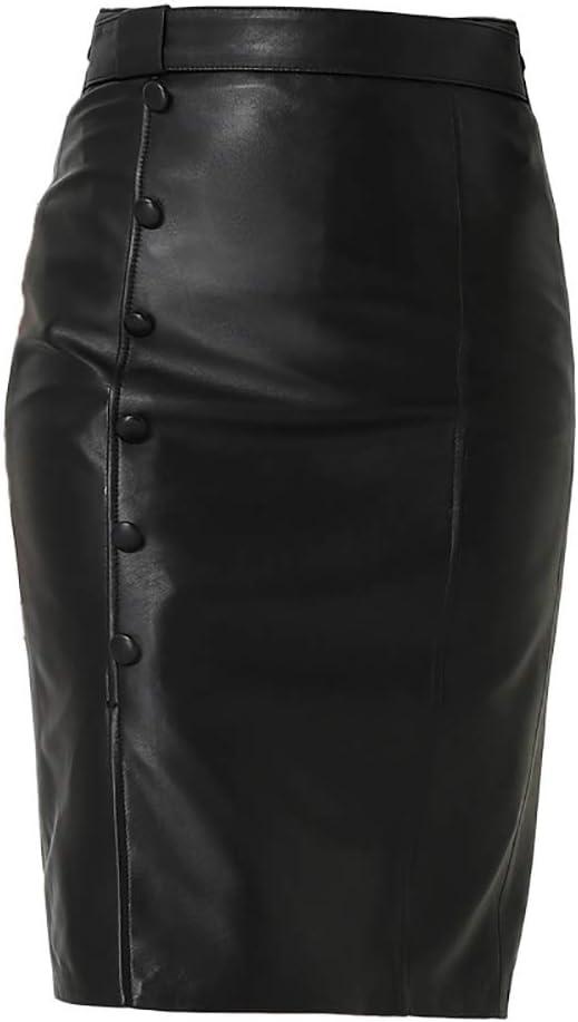 BFVSNGT Niña Falda de Cuero, de Cintura Alta Falda Plisada Tenis Femenino, Mini Falda de Las Mujeres, Conveniente for el Uso Diario (Color : Black, Size : 40EU)