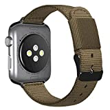 AUTULET Compatible Iwatch Bands Nylon Watch Band 42mm 44mm with Stainless Steel Metal Clasp